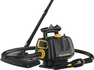 McCulloch MC1270 便携式电动清洁机带地板拖把,可变蒸汽,16 件配件套装,*无化学清洁,黑色