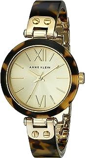 ANNE KLEIN 女式109652chto 金色调玳瑁塑料手环手表
