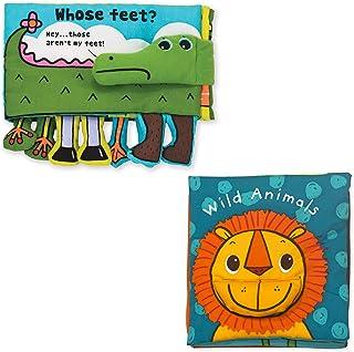 Melissa & Doug K's Kids柔软宝宝图书套装:动物(谁的脚?和野生动物)