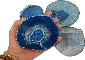 1 个(一)厚玛瑙过山 - Slab - 家居装饰- Rock Paradise Exclusive COA 蓝色 14172822