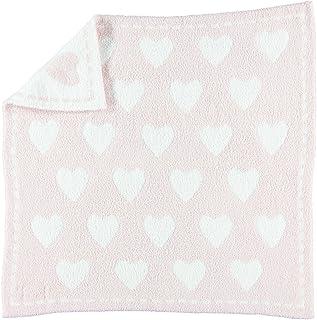 Barefoot Dreams 舒適夢幻嬰兒毯 - 粉色/白色心形