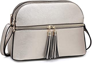 Dasein 女式设计师绗缝斜挎包扭锁肩包挎包手提包带链带