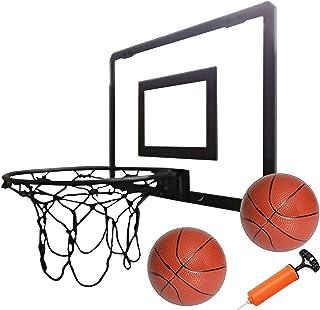 Play Platoon 迷你篮球框门 - 16 x 12 英寸卧室篮球框室内套装,黑色