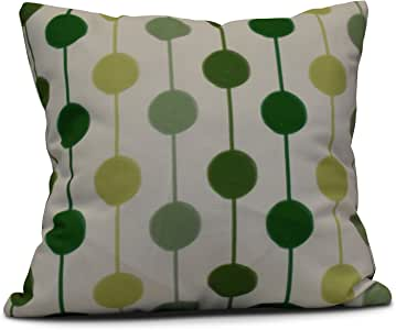 E by Design Funky Junky Brady 串珠装饰枕头 绿色 18 x 18 英寸(长x宽) PS765GR2-18