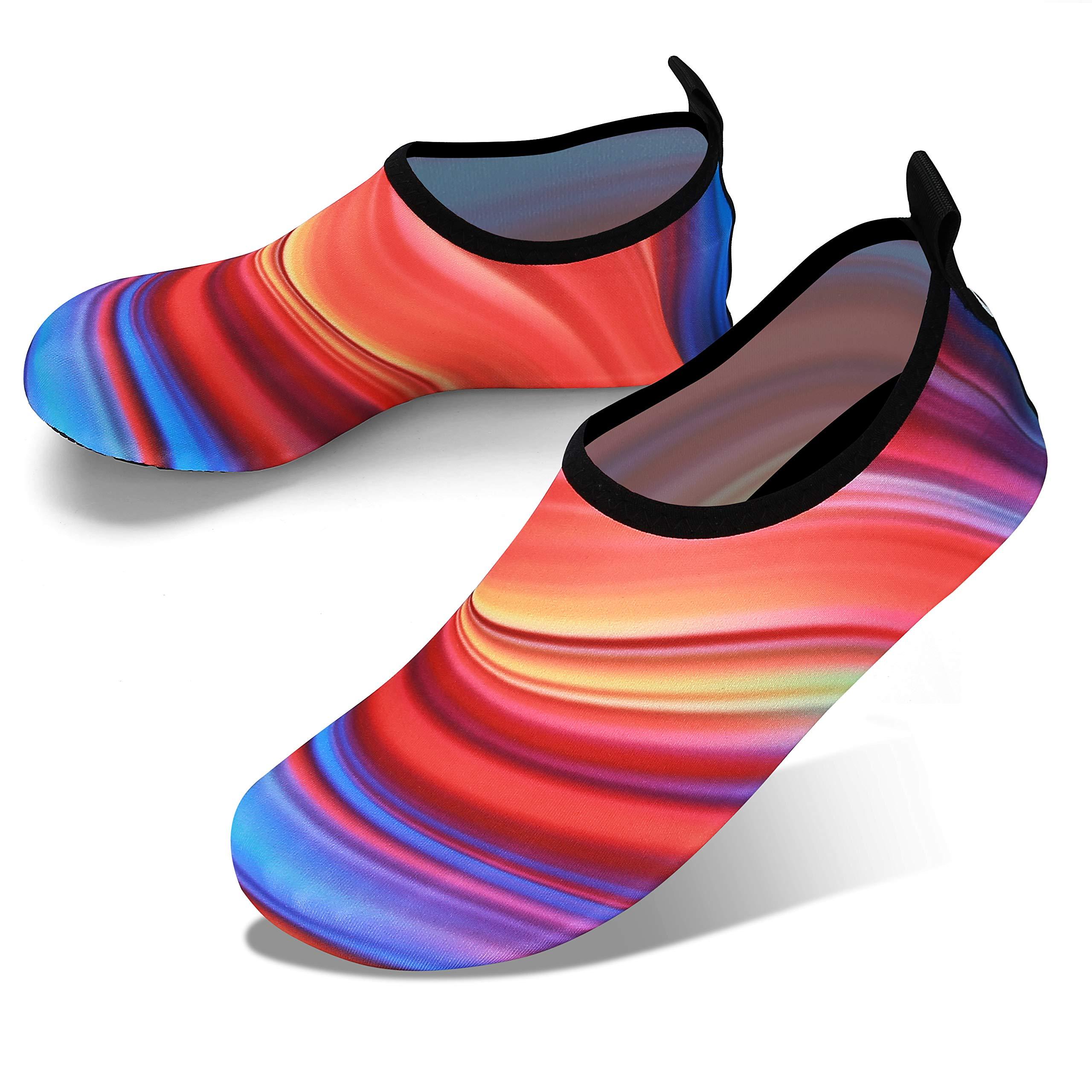 JOTO 水鞋,男女儿童,赤脚速干水袜一脚蹬游泳沙滩鞋,浮潜冲浪皮划艇海滩散步瑜伽
