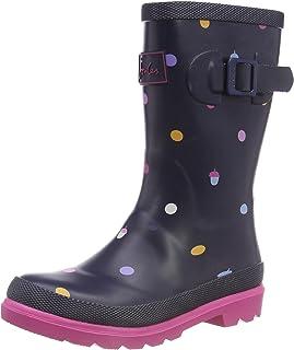 Joules 少女贴边印花雨靴