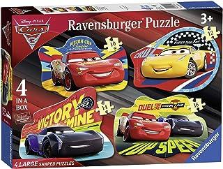 Ravensburger 迪士尼皮克斯汽车总动员 3,4大形状拼图(10、12、14、16 片)