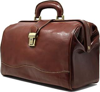 Floto Luggage Italian Ciabatta Doctor Handbag, Vecchio Brown, Small
