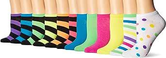 K. Bell Women's 12 Pack Fashion Low Cut Socks