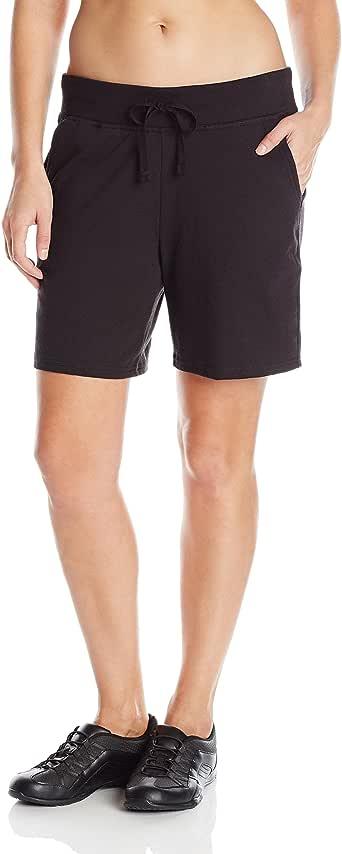 Hanes 女式运动短裤 黑色 Medium
