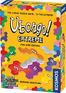Ubongo Extreme:趣味尺寸版 - Thames & Kosmos 游戏 | 儿童与家庭几何拼图游戏 | 适合 8 岁以上儿童,便携格式 | 鼓励空间识别