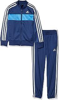 Adidas阿迪达斯 儿童训练服 B 3条纹 运动衫上下装 (慢跑裤)(FTN25)