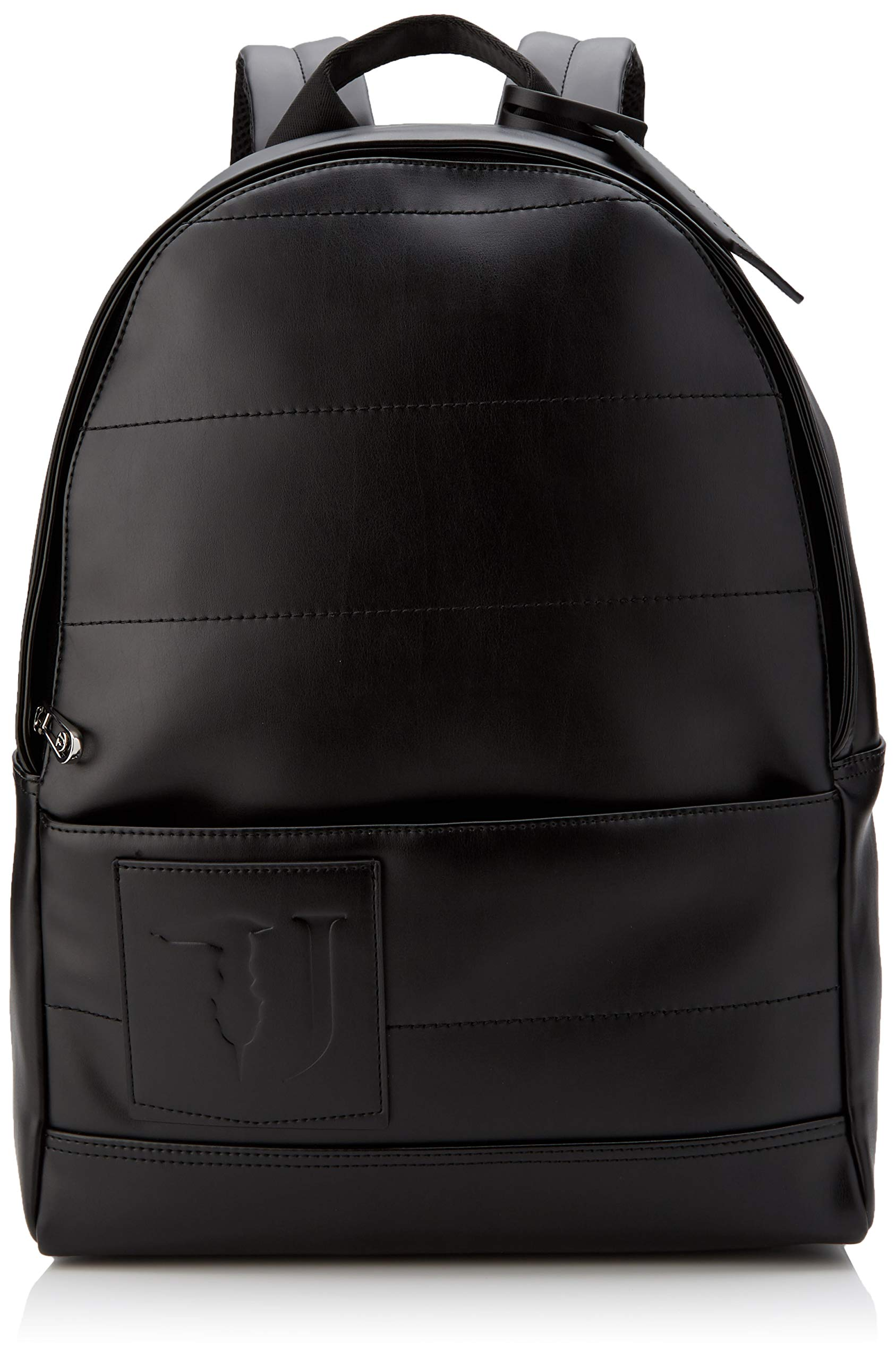 Trussardi Jeans Tici Backpack Md Ecoleather 男士背包,黑色,32x43x14 厘米 (宽 x 高 x 长)
