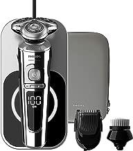 Philips 飞利浦 - SP9863/14 - 系列 9000 高级电动剃须刀,带充电面,Qi + 清洁刷,面部清洁刷+Smartclick 修剪器