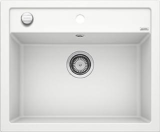 BLANCO 铂浪高 DALAGO 6 厨房水槽 现代设计 用于60厘米宽的底柜 SILGRANIT花岗岩/石质触感 514199,白色