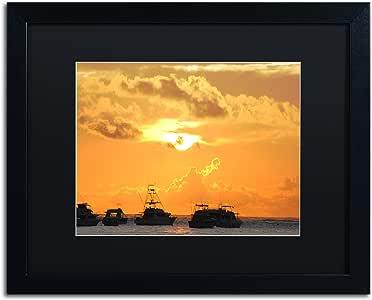 "Trademark Fine Art Kipona Aloha by Monica Mize Frame, 16"" x 20"", Black Matte"