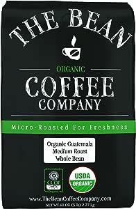 The Bean Coffee Company 危地马拉咖啡,中度烘焙,全豆,5 磅/2.27公斤袋