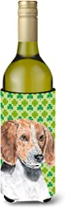 Caroline's Treasures SC9579-Parent English Foxhound 圣帕特里克爱尔兰超饮料隔热器适合纤薄罐,多色 多种颜色 750 ml SC9579LITERK