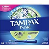 Tampax Pearl Super Absorbency, Unscented Tampons, 50 Count