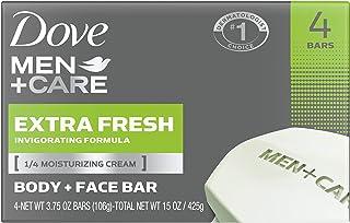 Dove 多芬男士+护理三合一,适用于身体、面部和剃须,清洁和保湿皮肤,超清新身体和洁面乳,比香皂更保湿,3.4 盎司(约 106.3 克)24 条