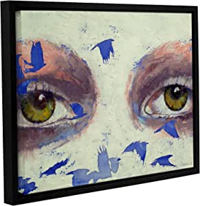 """ArtWall Michael Creese's The Crow Is My Only Friend Gallery Wrapped Floater Framed Canvas, 14 by 18"""""""