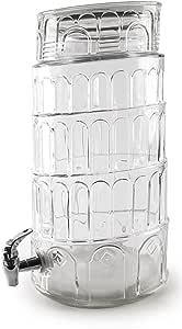 Circleware 家用和厨房玻璃器皿饮料水壶,适用于果汁、啤酒、肉瓜和冷饮料 Tower of Pisa Huge 2.2 Gallon, 69126/R