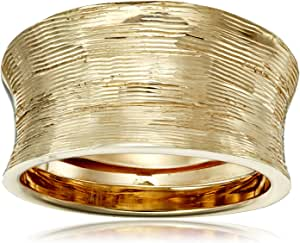 Italian 14k Yellow Gold Concave Ring, Size 7