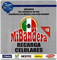 10 美元墨西哥头巾替换卡。 Recharge TELCEL, MOVISTAR, NEXTEL, UNEFON & IUSACELL 手机仅配一张手机卡。 Recarga los Celulares de tus famialres en Mexico con esta tarjeta.