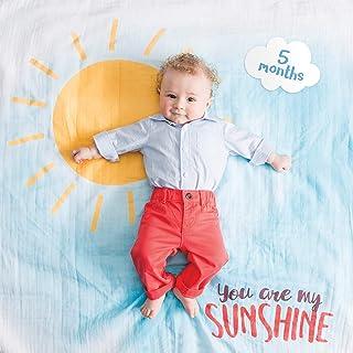 Lulujo 嬰兒襁褓帶 14 個月嬰兒卡片用于照片和捕捉寶寶*年的*步 You Are My Sunshine