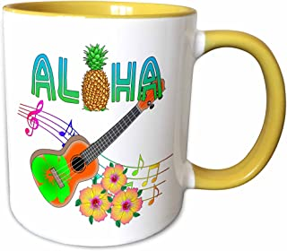 3dRose 马克杯 黄色/白色 11-oz Two-Tone Yellow Mug mug_281508_8