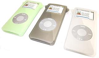 Samsonite 新秀丽超软硅胶手机壳,适用于 Apple iPod Nano * 1 代手机,半透明绿色,*雾透明,3 件装