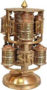 祈祷车轮 - 黄铜和铜