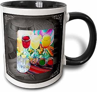 苏珊布朗设计 cinco DE Mayo–主题–drinks–墨西哥风格–马克杯 黑色/白色 11-oz Two-Tone Black Mug