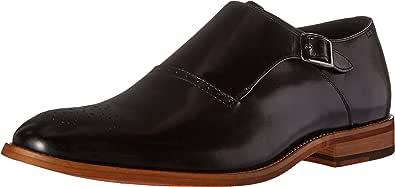 Stacy Adams 男士 Dinsmore 平头僧侣系带一脚蹬乐福鞋 黑色 7.5 M US