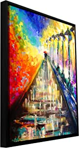 """ArtWall Susi Franco's Rainy Paris Evening Gallery Wrapped Floater-Framed Canvas, 18 by 24"""""""