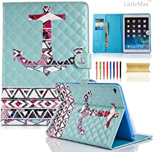 iPad 4 保护套,iPad 2/3 保护套,LittleMax(TM) 支架钱包式保护套 [卡和帐单插槽] 合成皮革保护套 Apple iPad 2 3 4 [免费清洁布,手写笔]() # Mint Anchor