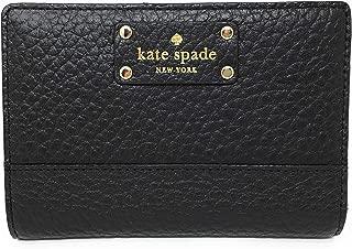 Kate Spade Bay Street Tellie 小号皮革双折钱包,黑色