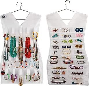 Regal Bazaar 悬挂珠宝和手表收纳袋 - 双面 白色