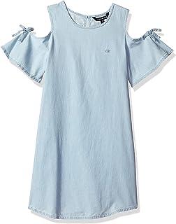 Calvin Klein 大女童露肩牛仔连衣裙