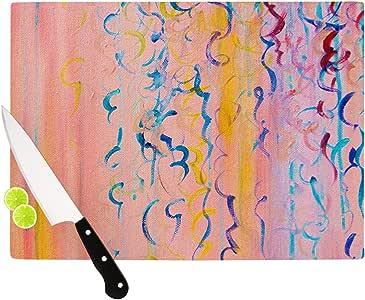 "Kess InHouse Ebi Emporium""Cotton Candy Whispers"" 砧板,粉色 粉红色 11.5 by 8.25-Inch JD1047ACB01"