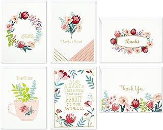 Hallmark 婴儿洗礼、新娘洗礼感谢卡 Watercolor Flowers