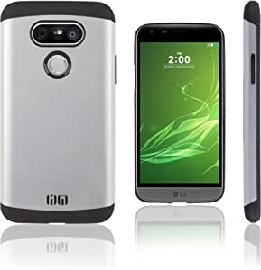 Lilware Angular Armor 硬质塑料手机壳 LG G5。 坚固双层保护壳CG10216 银色
