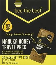 Bee The Best 佰思蜜 MGO 30麦卢卡混合蜂蜜便携装(盒装) 5g*24(新西兰进口)