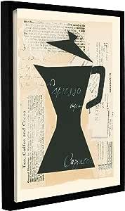 "Tremont Hill Susan Eby 玻璃""新鲜酿*""画廊装裱地板画框油画 黑色 14X18"" 2gla003a1418f"