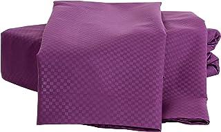 Natalia Cavalletto Check 1800 系列床上用品 6 件套 紫色 Queen NCSheets-Check-Queen-Purple