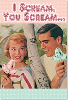 C1642VDG I Scream You Scream Naughty Humor Valentine's Day Greeting Card with Envelope