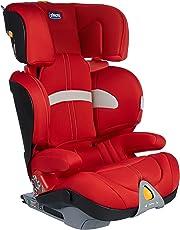 意大利 Chicco 智高  Oasys乐途ISOFIX 儿童汽车安全座椅(红色) 接口方式: ISOFIX 欧标硬接口 (适合年龄约3-12岁 宽敞舒适  可调头枕高度 可拆卸座套)