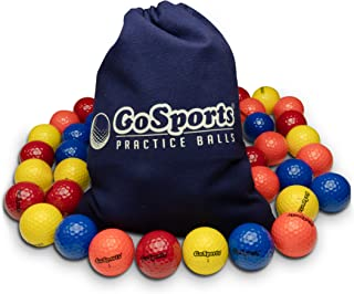 GoSports 用于玩耍或练习的多功能高尔夫球 | 选择 16 或 32 个装,带手提袋
