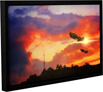 "ArtWall ""Dragos Dumitrascu's Eve of War"" Gallery Wrapped Floater Framed Canvas Artwork, 12"" x 18"""