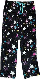 Secret Treasures 星星和月亮印花黑色Soot Superminky 羊毛休闲睡裤